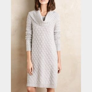 Anthropologie Cowled Sweater Dress
